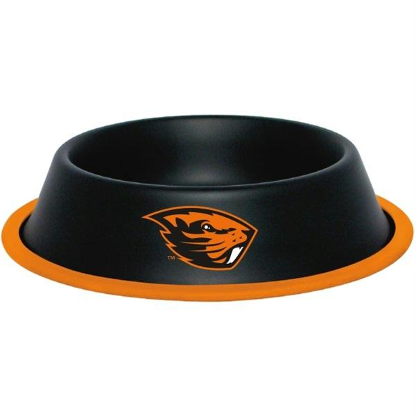 Oregon State Beavers Gloss Black Pet Bowl