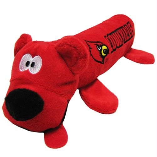 Louisville Cardinals Plush Tube Pet Toy