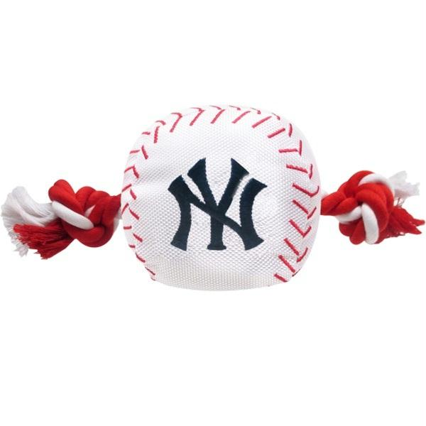 New York Yankees Nylon Baseball Rope Tug Toy