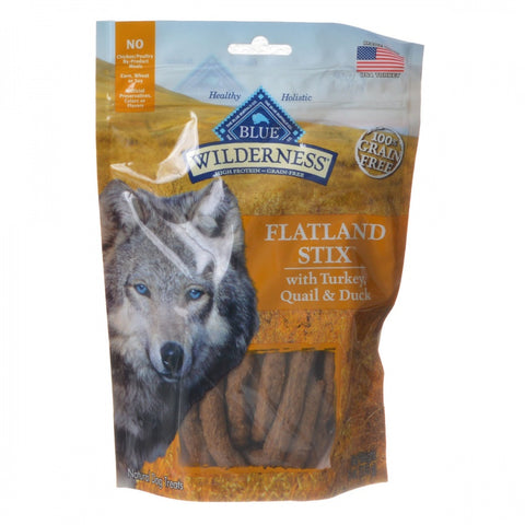 Blue Buffalo Wilderness Flatland Stix Dog Treats - Turkey, Quail & Duck - 6 oz