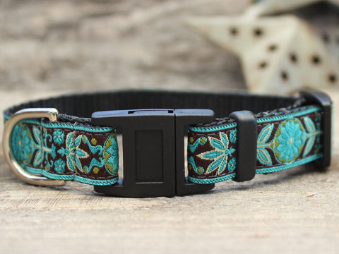 BOHO PEACOCK CAT COLLAR