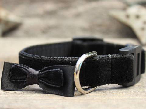 BOWTIE BLACK CAT COLLAR