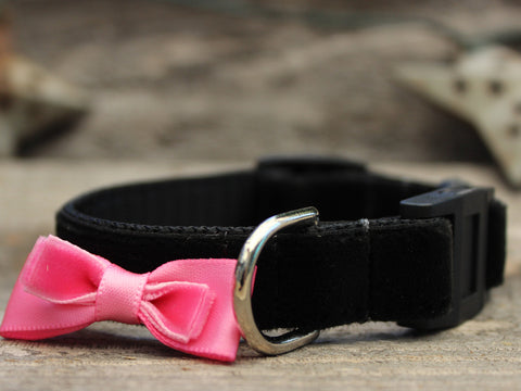 BOWTIE PINK CAT COLLAR