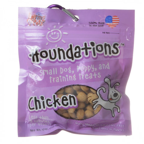 Loving Pets Houndations Training Treats - Chicken - 4 oz