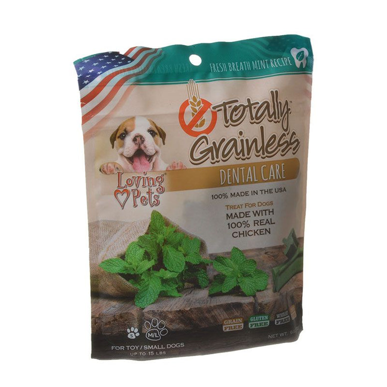 Loving Pets Totally Grainless Dental Care Chews - Fresh Breath Mint