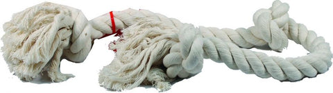Flossy Chews 3 Knot Tug Toy Rope - White