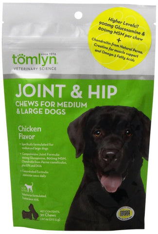 Tomlyn Joint & Hip Chews for Large Dogs - Chicken Flavor
