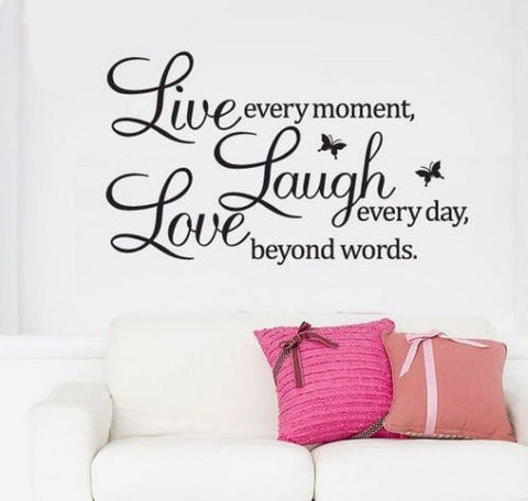 Live Laugh Love Quote Glamorous Live Laugh Love Butterfly Wall Quote Luxurious Home Art Decal