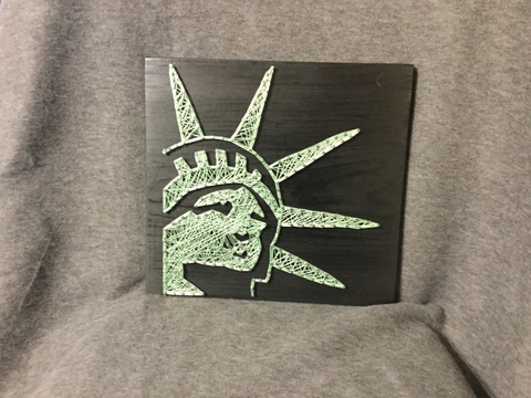 Lady Liberty String Art