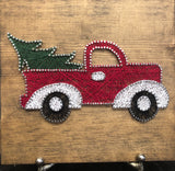 Red Christmas Truck