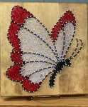 Butterfly red and white