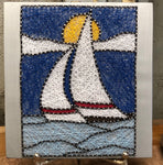 Sailboat stained glass