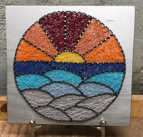 Sunset stained glass round