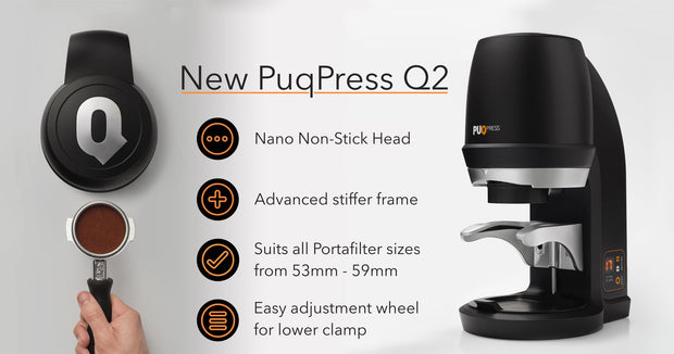 PUQPRESS PRECISION AUTOMATIC COFFEE TAMPER Q2 (Gen 5)