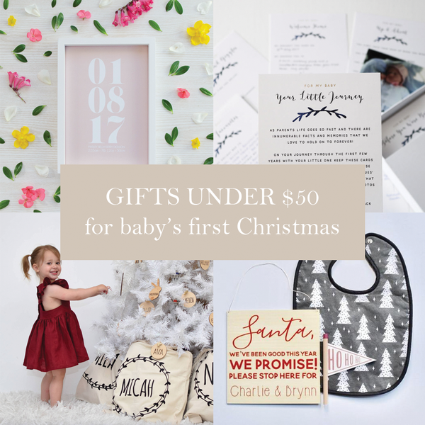 First Milestone | Baby's first Christmas gifts under $50