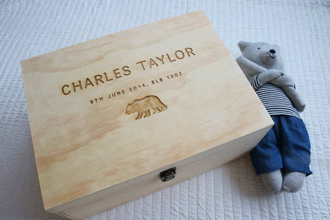 First Milestone | Jordan Whittaker | Keeps wooden baby keepsake box