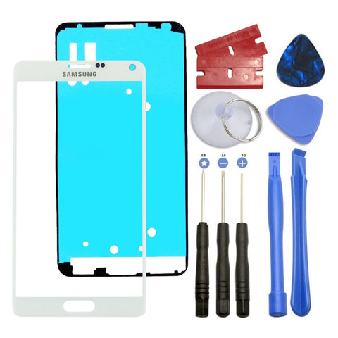 White Front Outer Lens Screen Glass Replacement for Samsung Galaxy NOTE 4 N910 - Fix Phone Store