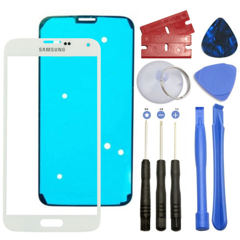 White Front Outer Lens Screen Glass Replacement for Samsung Galaxy S5 SM-G900 - Fix Phone Store