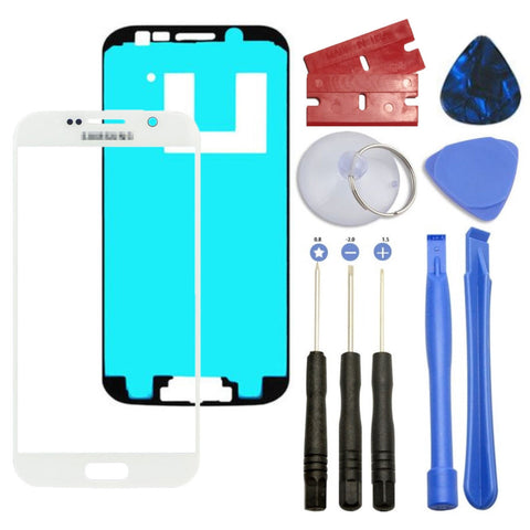 White Front Outer Lens Screen Glass Replacement for Samsung Galaxy S6 G920 Tools - Fix Phone Store
