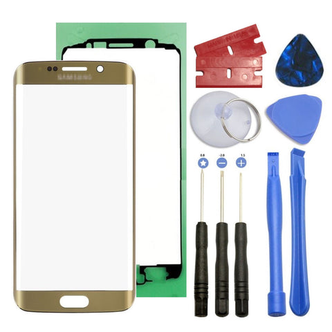 Gold Screen Front Glass Lens Replacement For Samsung Galaxy S6 Edge G925A G925T - Fix Phone Store