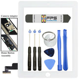 Front Panel Touch Screen Glass Digitizer + Home Button Assembly for iPad 2 White - Fix Phone Store
