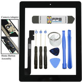 Front Panel Touch Screen Glass Digitizer + Home Button Assembly for iPad 4 Black - Fix Phone Store