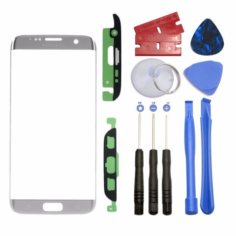 Silver Screen Front Glass Lens OEM Replacement For Samsung Galaxy S7 Edge G935 - Fix Phone Store