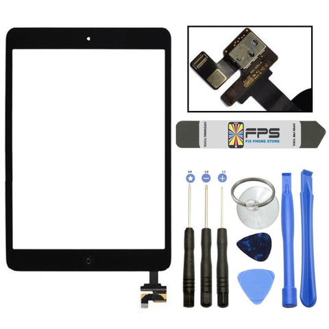 iPad mini 1 2 Touch Digitizer Screen + IC Connector Home Button Assembly (Black) - Fix Phone Store