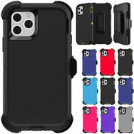 For iPhone 11 / 11 PRO / 11 PRO MAX Defender Rugged Case Cover Belt Clip Included - Fix Phone Store