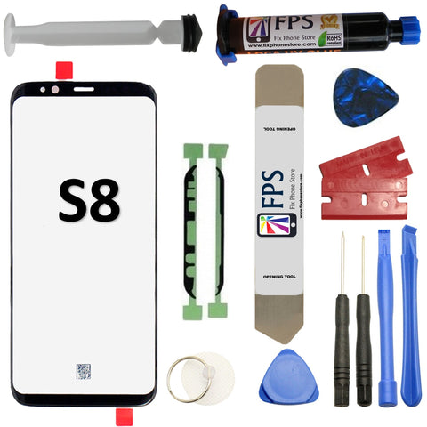 Samsung GALAXY S8 Glass Screen Repair Replacement KIT + Tools + Loca UV Glue 5ml - Fix Phone Store