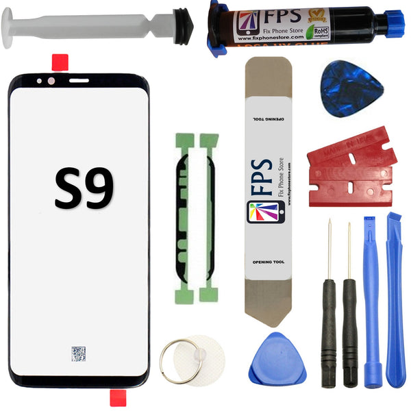 Samsung GALAXY S9 Glass Screen Repair Replacement KIT + Tools + Loca UV Glue 5ml. - Fix Phone Store