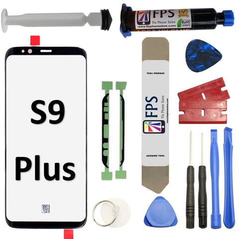 Samsung GALAXY S9 PLUS Glass Screen Repair Replacement KIT + Tools + Loca UV Glue 5ml. - Fix Phone Store