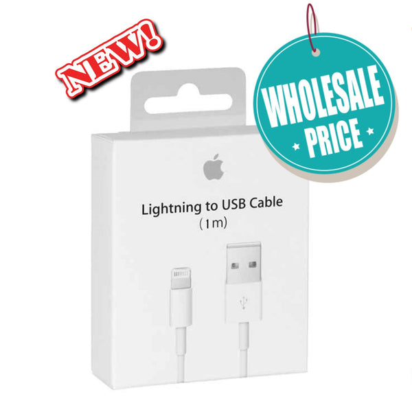 WHOLESALE LOT For Retailers Original Genuine Lightning USB Cable Charger Apple iPhone 6S / 6S Plus / iPhone 7 / 7 Plus / iPhone 8 / 8 Plus - Fix Phone Store
