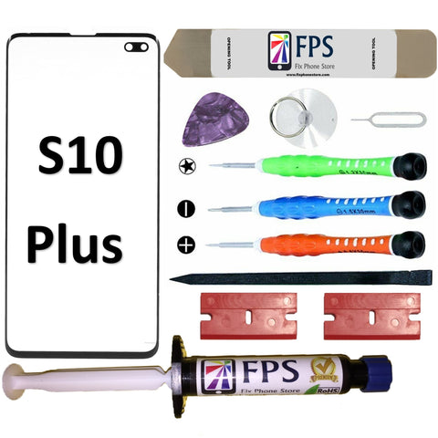 Samsung GALAXY S10 PLUS Glass Screen Repair Replacement KIT + Tools + Loca UV Glue 5ml. - Fix Phone Store