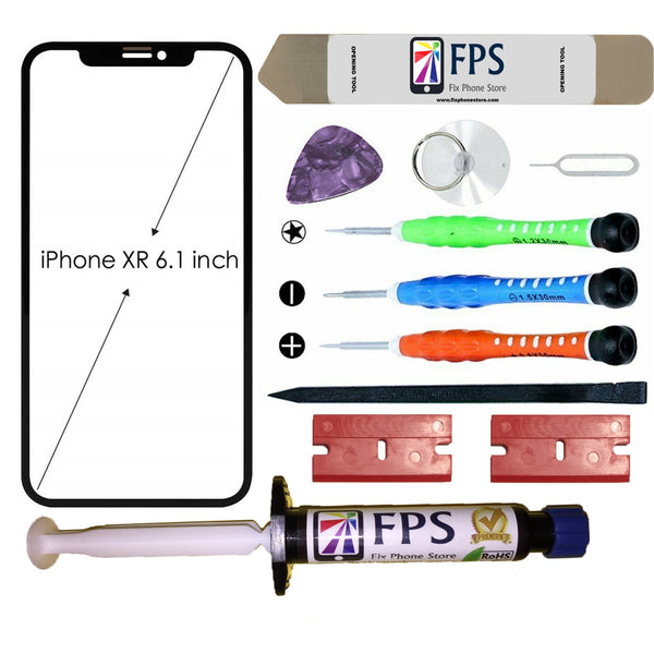 iPhone XR Glass Screen Repair Replacement KIT + Tools + Loca UV Glue 5ml. - Fix Phone Store