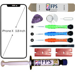 iPhone X Glass Screen Repair Replacement KIT + Tools + Loca UV Glue 5ml. - Fix Phone Store
