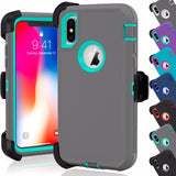 For iPhone XS MAX Defender Rugged Case Cover {Clip fits Otterbox Defender} - Fix Phone Store