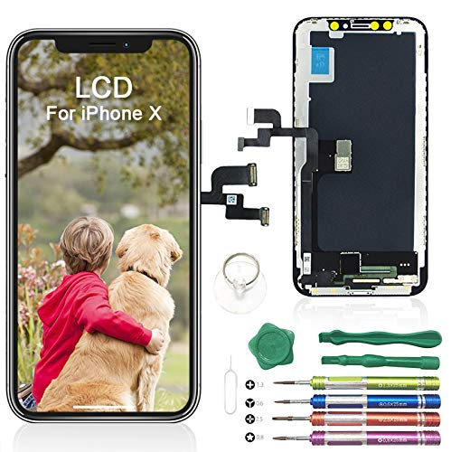 iPhone X OLED LCD Touch Screen Replacement Assembly  + Tools Set - Black - Fix Phone Store
