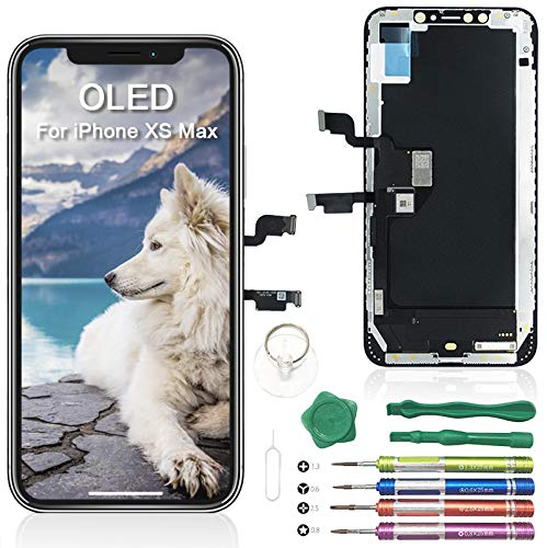 iPhone XS MAX OLED LCD Touch Screen Replacement Assembly  + Tools Set - Black - Fix Phone Store