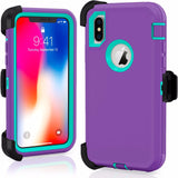 For iPhone X / XS Defender Rugged Case Cover {Clip fits Otterbox Defender} - Fix Phone Store