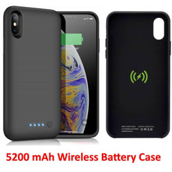 Portable Qi Wireless Charger Charging Battery Case For iPhone 8 and 8 Plus 5200mAh - Fix Phone Store