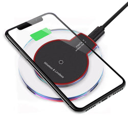 Qi Wireless Charger Charging Pad for iPhone 11/Pro/Max/XS/8/Galaxy Note 10/S10/+ - Fix Phone Store
