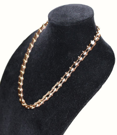 SportBike Chic Motorcycle Chain Link Necklace - Rose Gold - SportBike Chic