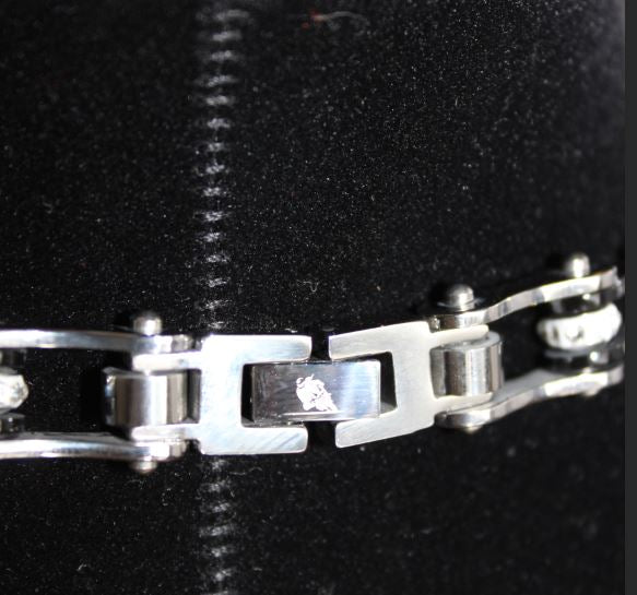 SportBike Chic Motorcycle Chain Link Necklace - Purple and Silver - SportBike Chic