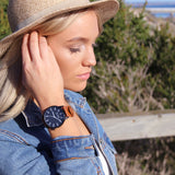 Baby Bondi Tan and black leather timepiece
