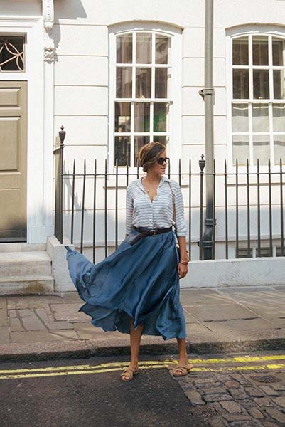 Beat The Heat With These Knee-Length Summer Skirts