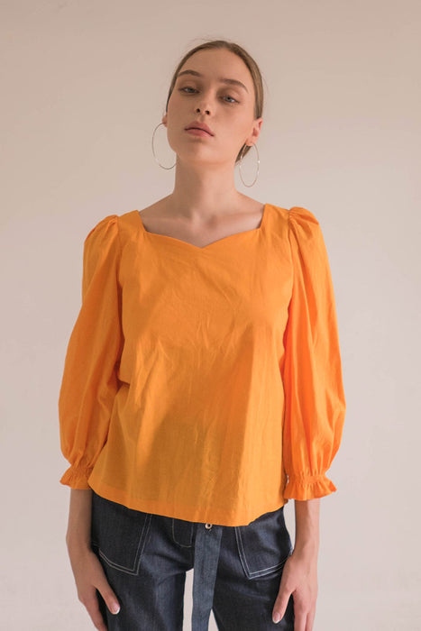 Malik Blouse In Yellow