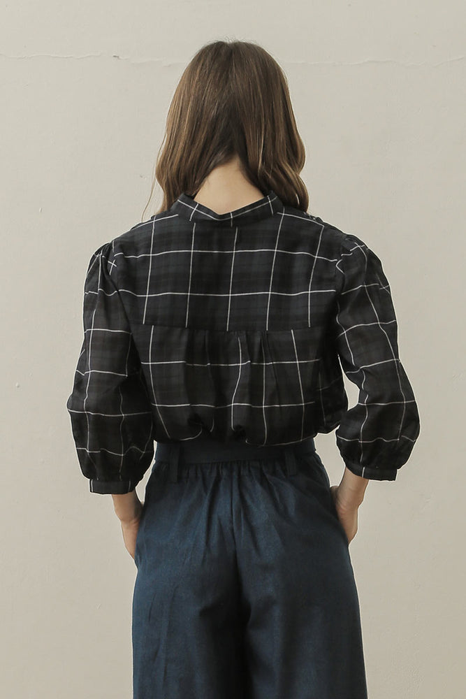 Blouson Blouse In Navy