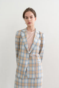 Mild Check String Jacket Beige