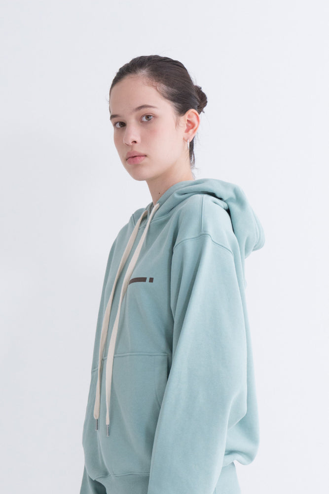 NOTA Signal String Hood Mint Modest Women Oversized Sweater With Front Pockets and Adjustable Drawstring Hoodie 100% Cotton